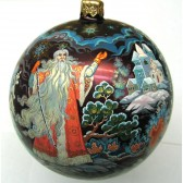 Расписной новогодний шар - Дед Мороз